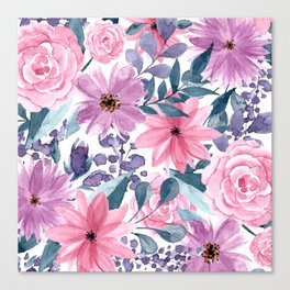 FLOWERS XII Canvas Print