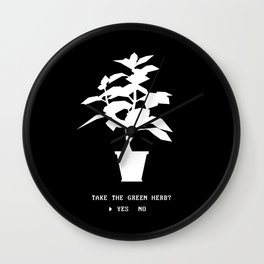 Green Herb Wall Clock