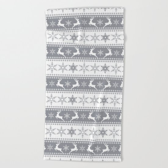 Christmas pattern . Beach Towel