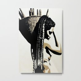 african woman with basket 11 Metal Print