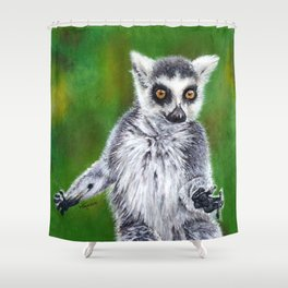 Maky - Ring Tailed Lemur Shower Curtain