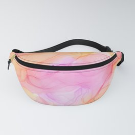 Alcohol Ink - Tropical Pink, Orange & Yellow Fanny Pack