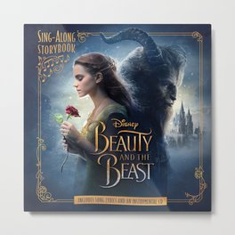 beauty and the beast poster Metal Print