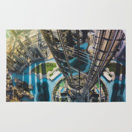 Dubai from the tallest building in the world Rug
