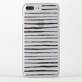 Black Ink Linear Experiment Clear iPhone Case
