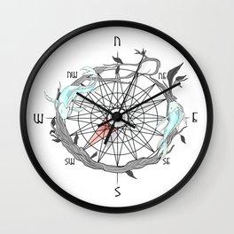 Koi Compass Wall Clock