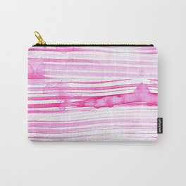 Pink-Striped-Watercolor-Textures Carry-All Pouch