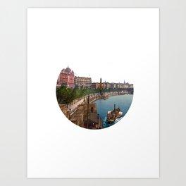 Paddleboat Art Print