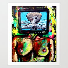 Televised Revolution  Art Print