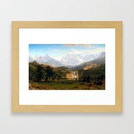Albert Bierstadt The Rocky Mountains, Lander's Peak Framed Art Print