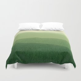 gradient landscape green Duvet Cover
