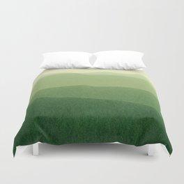 gradient landscape green Duvet Cover