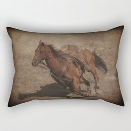 Break Away Rodeo Horse Rectangular Pillow