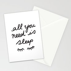 All You Need Is Sleep Stationery Cards