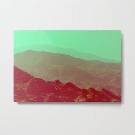 Palm Springs Mountains II Metal Print