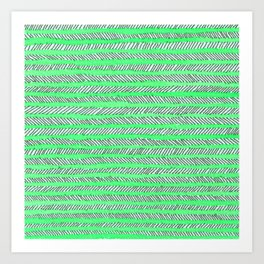 Arrow - Green Art Print