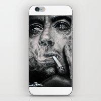 robert downey jr iPhone & iPod Skins featuring Robert Downey JR by Luna Perri
