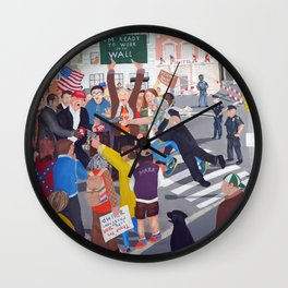 The colourful Assassination of Donald Trump in New York City Wall Clock