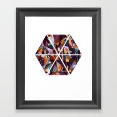GeoHex Framed Art Print