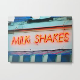 Milk Shakes Metal Print