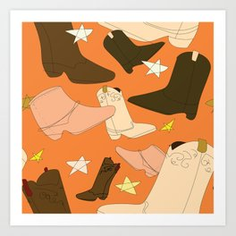 Boots, boots and more boots Art Print