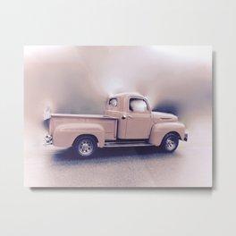 Classic Vintage Pickup Metal Print