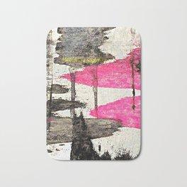 Pink Lake Abstract Bath Mat