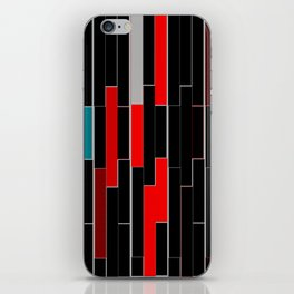 Black&Red iPhone Skin