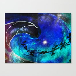 Down The Wormhole Abstract Canvas Print