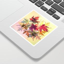 fallen leaves III Sticker