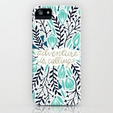 Adventure is Calling – Navy & Mint Palette iPhone SE Slim Case