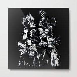 Anime Hero's 1 Metal Print