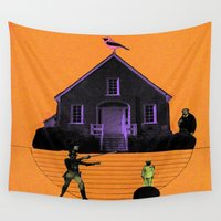 house Wall Tapestries featuring HOUSE by MAR AMADOR