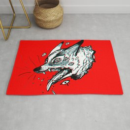 Red Doghead Rug