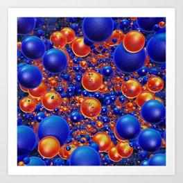 Shiny 3D balls Art Print