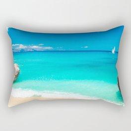The beautiful Cala Goloritzè in Sardinia Rectangular Pillow