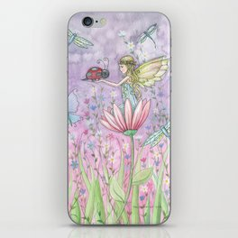 A Friendly Encounter Fairy and Ladybug Art by Molly Harrison iPhone Skin