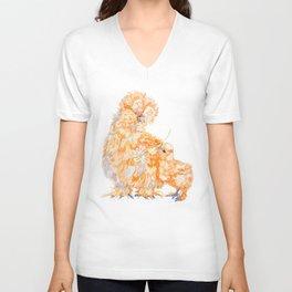 Silkie Chickens - Daisy Unisex V-Neck