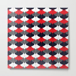 Manta Ray Pattern (Blue and Red) Metal Print