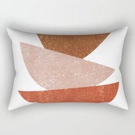 Abstract Bowls 1 - Terracotta Abstract - Modern, Minimal, Contemporary Print - Brown, Beige Rectangular Pillow