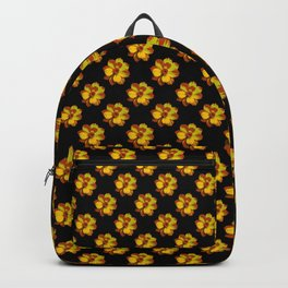 Pretty Golden Flowers Backpack