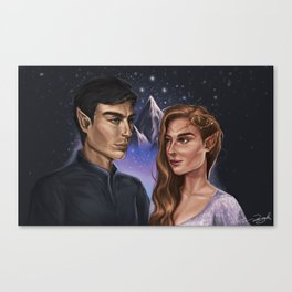 High Lord and Lady of the Night Canvas Print