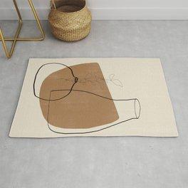Vase Line Minimalistic Study No.3 Rug