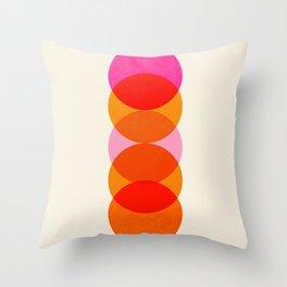 Abstraction_COLOUR_CIRCLES_001 Throw Pillow