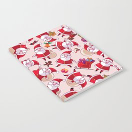 Santa Gift Pattern Notebook