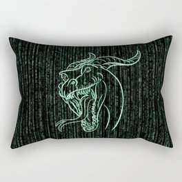 Wyrm in the Shell Rectangular Pillow