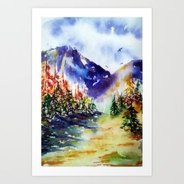 October colors Art Print