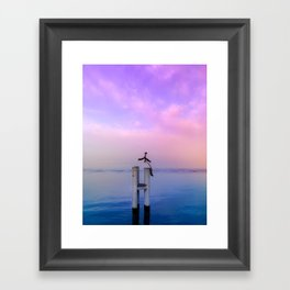 The guardian of time Framed Art Print