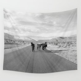 Spring Mountain Wild Horses Wall Tapestry