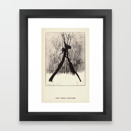 """They Were Lonesome"" from ""Trees at Night"" by Art Young Framed Art Print"